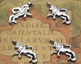 15pcs running Lion Charms  silver tone runing lion Charms pendants 12x22mm ASD1508