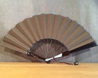 Jacquard rafter, resin cristal&écaille, Fan