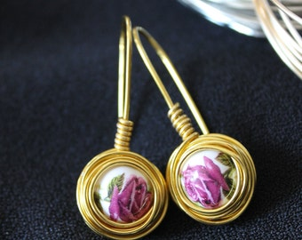 """The """"Spring"""" Collection Nest Drop Earrings"""