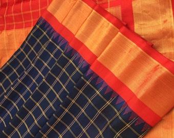 Handwoven Silk Gadwal Saree