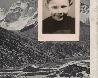 collage duplex - children/mountain