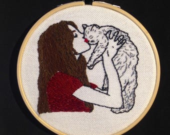 Cat Lover, Embroidery