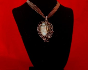 Copper Wire Wrapped cabochon
