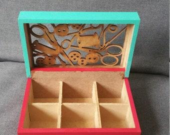 Sewing materials box