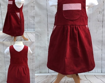 Pinafore dress in needlecord