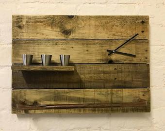 Industrial Wooden Clock