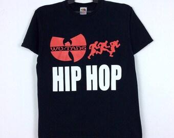 RARE!!! Vintage Wu Tang Clan T shirt Wu- Tang Wu Wear Big Logo Medium Size/ Hip Hop Swag/ Rap Tees