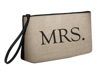 Bridal Mrs. Clutch Wristlet Pouch Accessory