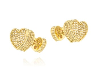 Vintage earrings goldfield 3 micro14 k. jewelry with great care.zircon aaa stons Amazing earrings for every occasion