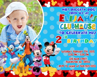 Mickey Mouse Clubhouse Invitation Birthday Party Mickey And Friends Invitation