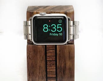 Hardwood Apple Watch Charging Stand