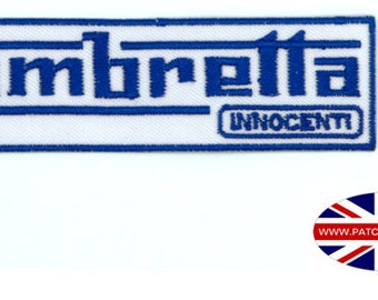 Lambretta - Scooter - Mods - Iron on Sew on Patch