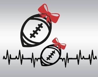 Football svg, Football mom svg, Sootball sister svg, Heartbeat svg, Football shirt, Football heartbeat svg, Cricut, Cameo, Svg, DXF, Png Eps