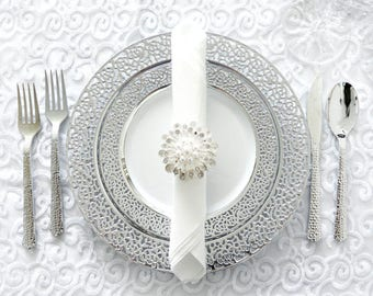 Inspiration Collection Silver Party Package Service for 80 Guests