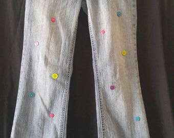 Girls size 12r embellished jeans