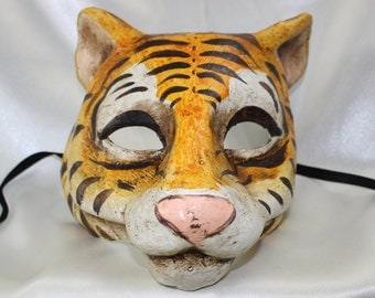 Sensational Unique Tiger Tigress Animal Venetian Full Face Masquerade Mask 091