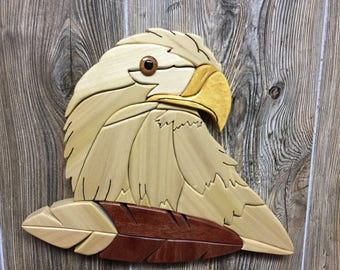 Intarsia-Eagle Ever Watchful