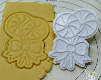 Lollipop Pinwheel Cookie Cutter and Stamp