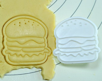 Hamburger Cookie Cutter and Stamp