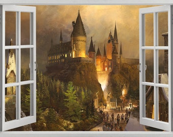 Harry Potter, Hogwarts Castle wall sticker, decal, self-adhesive vinyl
