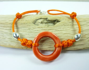"""Anglet"" ceramic and silver bracelet"