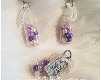 "Jewelry set ""Mermaid Tears"" 2 PCs. earrings + 1 trailer"