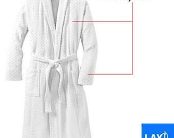 Men's Custom Embroidered Cotton Robe