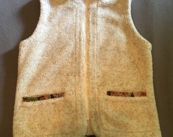 Womens vintage fleece vest by Orvis super comfy size small