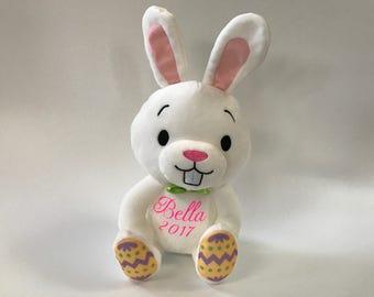 Custom Easter bunny, personalized Easter bunny, Kids Easter gift, Easter bunny plush, personalized bunny, Easter Basket, Bunny Rabbit