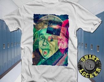 Albert LSD Einstein Soft Style Cotton Tee Shirt by Gildan E=MC2 Science Shirt Albert Einstein Shirt Third Eye Unlock the Universe