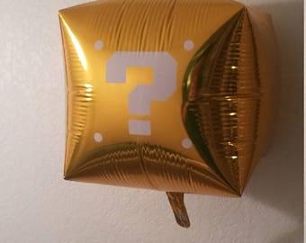3D Question Mark Balloon Block - Super Mario Inspired!