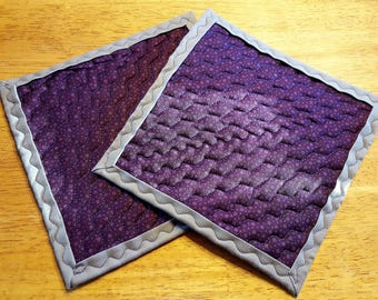 Pair of Hot Pads 8 x 8 inches--Free Shipping