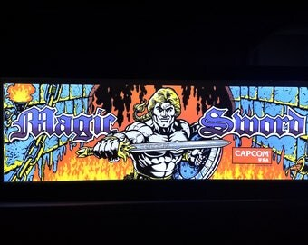 Magic Sword Arcade Style Marquee Light Box