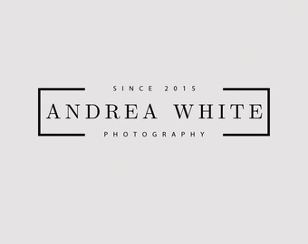 The White The Timeless Collection Custom Business Photography Logo Premade Gold Watercolor Floral Rose