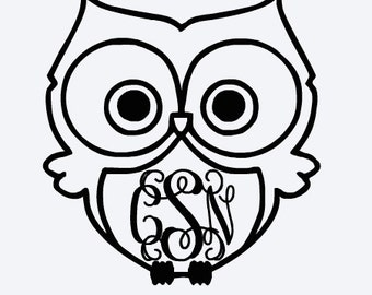 Personalized Owl Sticker