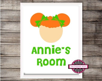 Ginger Girl Nursery Print/Nursery Print/Toy Room Print/Playroom Print/Children's Print/Gallery Wall/Toddler Name Print/Frameable/Kids File