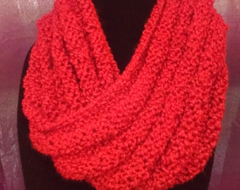 Hand Knit Chunky Moebius Cowl Scarf