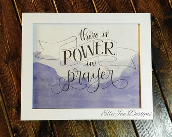 Watercolor Art, Inspirational Quote, Hand Lettered Art, Hand Lettered Illustration, Calligraphy Art