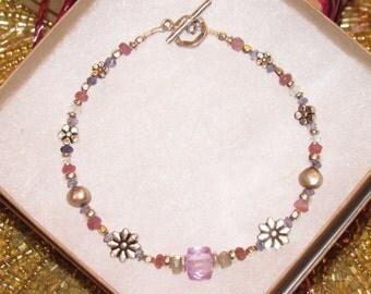 Beautiful Lavender Amethyst Beaded Bracelet