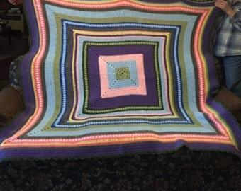 Multi Color handmade afghan