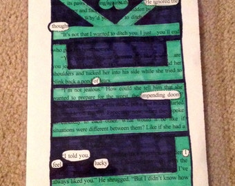 Blackout Poetry - Lucky (Dealing with Blue) - Art and a Donation to AHA
