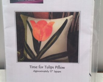 """Instructions for """"Time for Tulips"""" Wool Applique"""