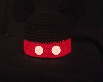 Mikey and Minnie crocheted hat