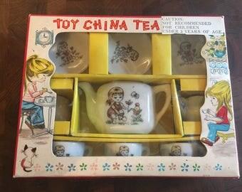 Vintage Toy China Tea Set Made in Japan
