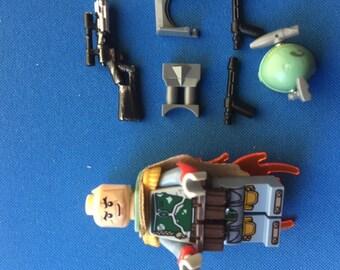 Star Wars Building Blocks Boba fett Figure lots of extras