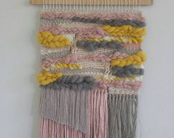 arte de pared de boho del colgante de pared tapices colgando de la pared tejer fibra art el arte textil hogar a mano tejidos