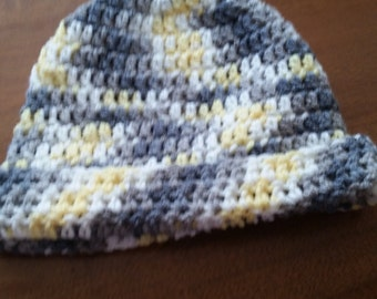 Yellow ad Grey Bennie