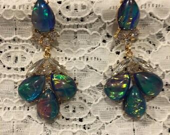 Glamour Iridescent Dangle Earrings
