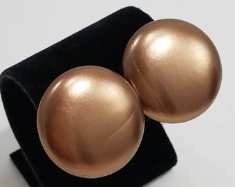 Classic Round Clip Style Earrings from Japan