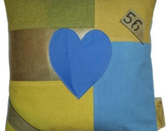 Pillow, Pillow heart 2 Patchwork